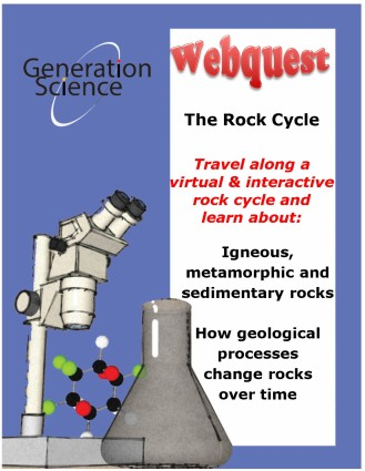rock cycle webquest cover