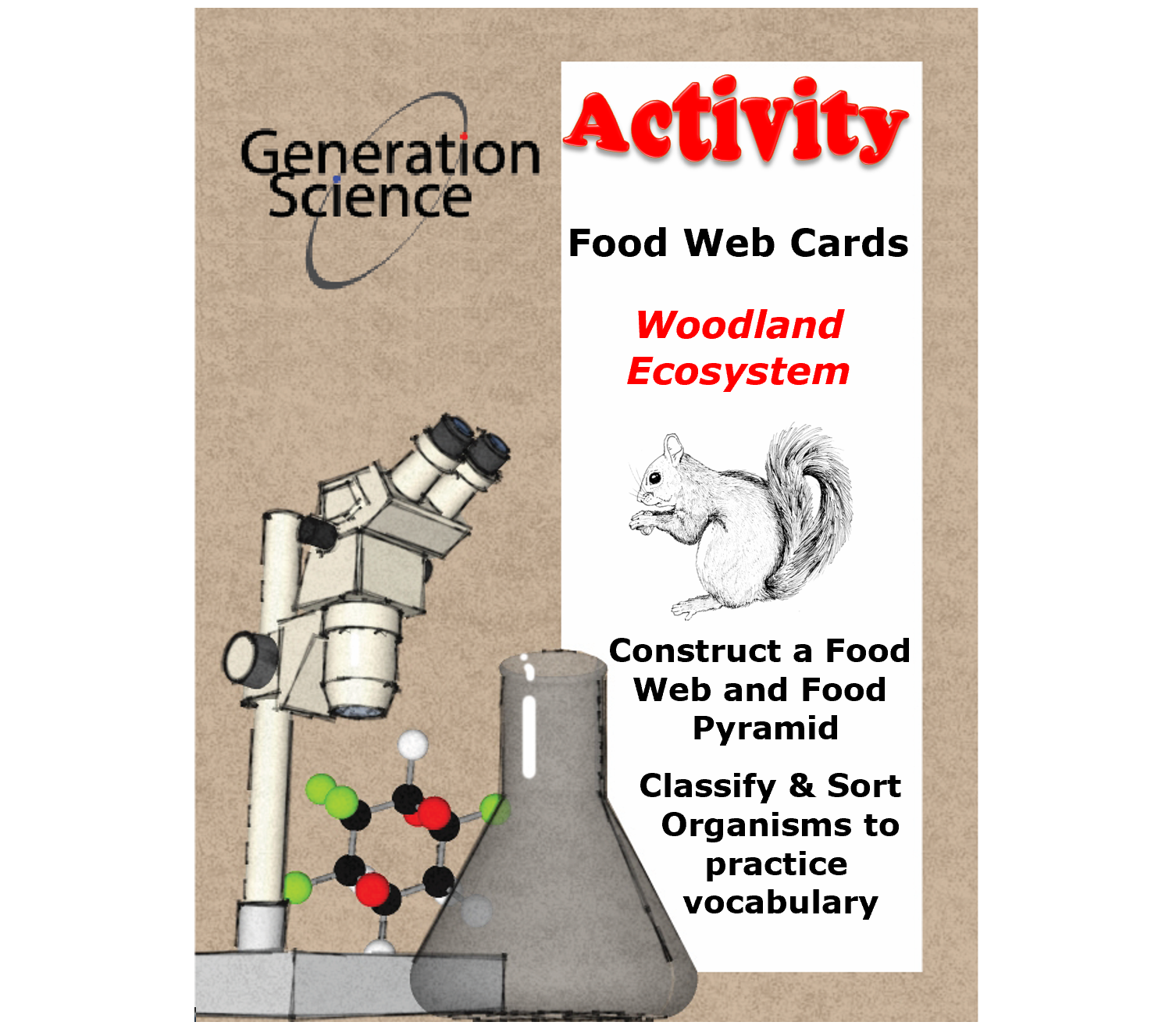 woodland food web cover page